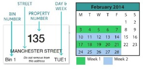 Bin label and Calendar example